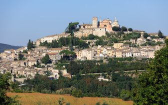 AMELIA, TERNI, UMBRIA, ITALY - AUGUST 26:  A view of Amelia on August 26, 2020 in Amelia, Italy. (Photo by Thierry Monasse/Getty Images)