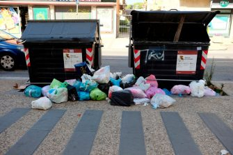 ROME, ITALY - JUNE 23:Waste on the street in Via Tor Sapienza, on June 23, 2019 in Rome, Italy. According to reports, Rome doctors have highlighted concerns over the health and hygiene implications of overflowing bins and piles of rubbish in the streets of Rome as the summer heat arrives. Romes Mayor Virginia Raggi has faced criticism over her management of public services including street potholes and refuse during her three-year-long administration. (Photo by Simona Granati - Corbis/Getty Images)
