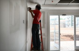 HAMDEN, CT - AUGUST 02: Electricians finish a room at Canal Crossing, a luxury apartment community consisting of 393 rental units near the university city of New Haven on August 2, 2017 in Hamden, Connecticut. According to a Pew Research Center analysis of Census Bureau housing data, more U.S. households are headed by renters than at any point since at least 1965. Sixty-five percent of households headed by people under the age of 35 were renting in 2016, an increase from the 2006 figure of 57 percent. (Photo by Spencer Platt/Getty Images)