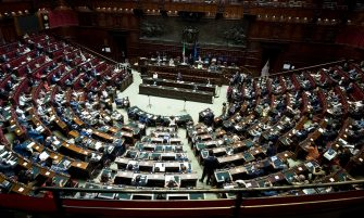 Informativa del presidente del Consiglio Giuseppe Conte sugli esiti del Consiglio europeo in aula della Camera, Roma, 22 luglio 2020. ANSA/POOL - ROBERTO MONALDO