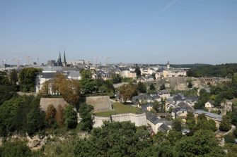 A photo taken on August 29, 2017 shows a view of the city of Luxembourg. (Photo by ludovic MARIN / AFP)        (Photo credit should read LUDOVIC MARIN/AFP via Getty Images)