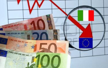 Crisis economically declining bags - euro crisis - inflation