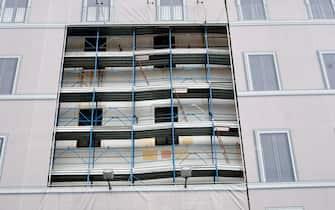 Lavori di ristrutturazione in un palazzo