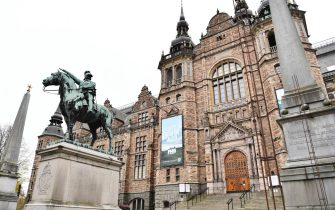 epa08790832 The Nordic Museum (Nordiska museet ) has temporarily closed its gates to the public due to the tightened restrictions to reduce the spread of the coronavirus Covid-19 pandemic, in Stockholm, Sweden, 01 November 2020.  EPA/Jessica Gow SWEDEN OUT