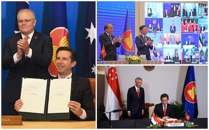 Asia-Pacifico, Cina firma mega-accordo commerciale con 14 Paesi