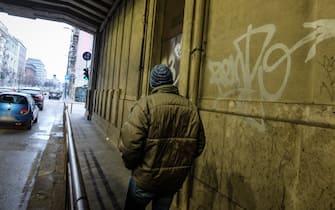 Foto LaPresse - Matteo Corner  02/02/2019 Milano (Italia) cronaca  Servizio clochard - senzatetto in zona Stazione Centrale
