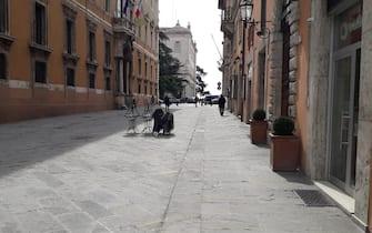 Perugia questa mattina, 10 marzo 2020.   ANSA