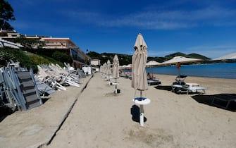 Spiaggia chiusa per le disposizioni anti-Covid