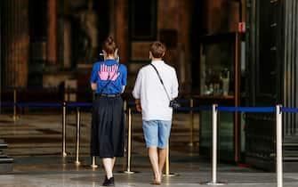 Una coppia di turisti in Italia