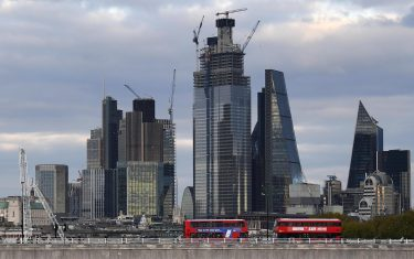 epa07103010 The City of London, the capital's financial district in central London, Britain, 18 October  2018. A possible no deal Brexit is threatening to put on hold a thriving London economy.  EPA/ANDY RAIN