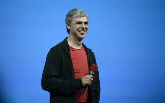 epa08042407 (FILE) - Larry Page, chief executive officer and co-founder of Google listens to questions from the audience during the keynote at the Google I/O developers conference at Moscone West Convention Center in San Francisco, California, USA, 15 May 2013 (Reissued 03 December 2019). Larry Page, CEO of Alphabet (parent company of Google), will step down from his position. Current Google CEO Sundar Pichai will take over along side his current position.  EPA/JOHN G. MABANGLO *** Local Caption *** 50830838