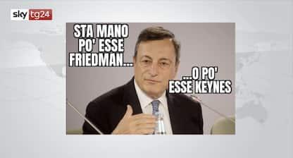 Keynesiano o liberista? L'identikit di Mario Draghi in un meme
