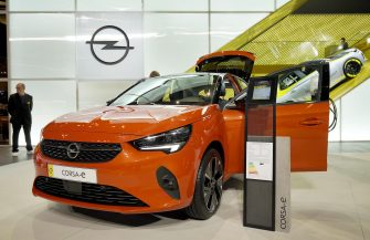 epa07834416 A Corsa-e car of Opel on display at the International Motor Show IAA in Frankfurt, Germany, 11 September 2019. The 2019 International Motor Show Germany IAA 2019, which this year promotes itself under the motto 'Driving tomorrow', takes place in Frankfurt am Main from 12 to 22 September 2019. The IAA 2019 will also feature numerous world premieres, and has a special focus on electric mobility and digitization.  EPA/RONALD WITTEK