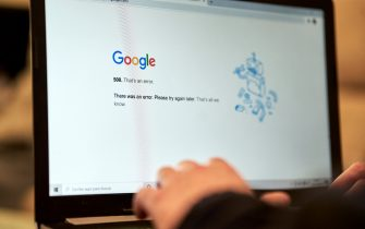 Madrid, Spain. 14 December, 2020: Google is down: users report problems with Google and its other services, such as Youtube, Gmail and Google Drive on 14 December, 2020 in Madrid, Spain. Credit: May Robledo/Alfa Images/Sipa USA