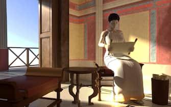 Una immagine dell'evento espositivo ospitato nel 2013 alla Casa del Lector di Madrid. Dedicata alla Villa dei Papiri, dove nella metà del XVIII secolo fu portata alla luce l'unica biblioteca classica dell'Antichità che si conserva