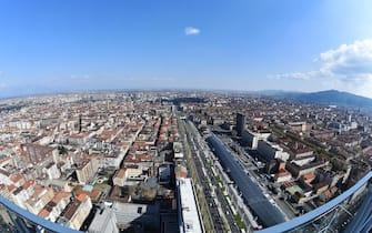 Una vista di Torino dall'alto
