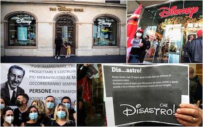 Disney store: i lavoratori protestano contro le chiusure. FOTO