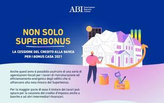L'infografica Abi sulla cessione del credito d'imposta per gli interventi edilizi che rientrano nel Bonus casa