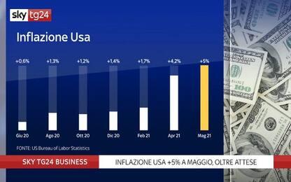 L'inflazione Usa arriva al +5% ma le borse non si spaventano