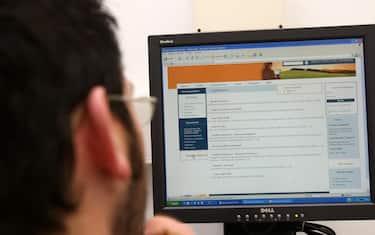 La prima pagina del sito dell' agenzia delle entrate. FRANCO SILVI / ANSA