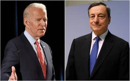 """G7, incontro bilaterale Draghi-Biden: """"Siamo d'accordo su molti temi"""""""