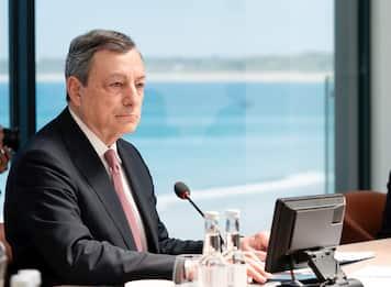 """G7, Draghi: """"Contro autocrazie posizioni condivise"""""""