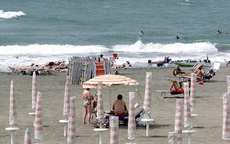 Una spiaggia italiana d'estate
