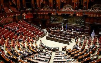 Dichiarazioni di voto sul decreto   riaperture   sul quale il governo ha posto la questione di fiducia, camera dei deputati, Roma 8 giugno 2021. ANSA/FABIO FRUSTACI