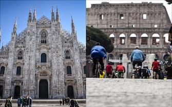 Le città di Milano e Roma