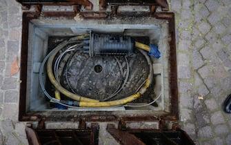 Lavori di posa di cavi di fibra ottica
