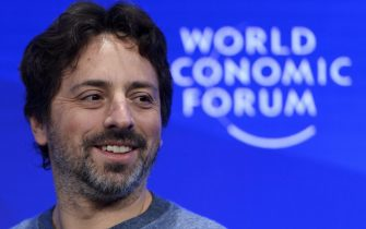 epa05731055 Google co-founder and President of Google's parent company Alphabet American Sergey Brin during the 47th annual meeting of the World Economic Forum, WEF, in Davos, Switzerland, 19 January 2017. The meeting brings together enterpreneurs, scientists, chief executive and political leaders in Davos January 17 to 20.  EPA/LAURENT GILLIERON