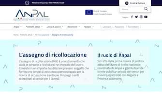 La pagina dell'Anpal dedicata all'Assegno di ricollocazione