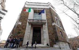 Veduta ministero dello Sviluppo Economico durante terzo incontro per la produzione dei vaccini anti Covid in Italia, Roma 11 Marzo 2021. ANSA/GIUSEPPE LAMI