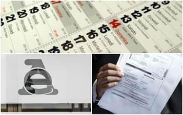 Calendario, Agenzia entrate e cartella esattoriale