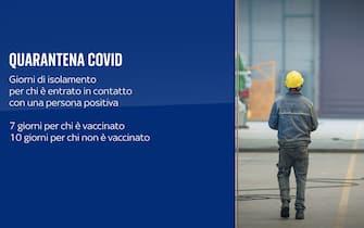 Quarantena Covid lavoratori: 7 giorni per chi è vaccinato, 10 giorni per i non vaccinati