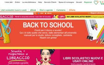 La homepage del sito del Libraccio