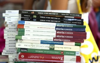 Mercatino dei libri a Lungotevere della Vittoria.     ANSA / ETTORE FERRARI