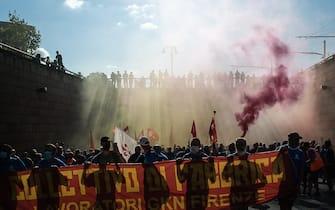 Manifestazione in solidarietà dei lavoratori della GKN (Firenze - 2021-09-18, Stefano De Grandis) p.s. la foto e' utilizzabile nel rispetto del contesto in cui e' stata scattata, e senza intento diffamatorio del decoro delle persone rappresentate