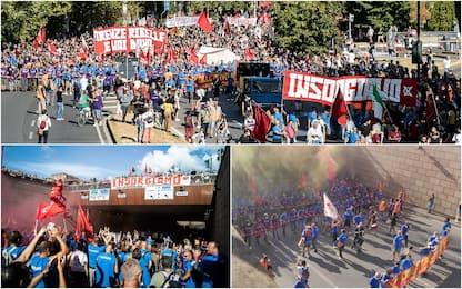 Gkn, a Firenze la manifestazione indetta dai lavoratori. LE FOTO