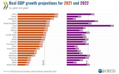 Ocse, l'Italia cresce oltre le attese: +5,9% quest'anno