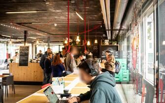 Talent Garden, coworking in via calabiana 6 (Stefano De Grandis/Fotogramma, Milano - 2019-11-18) p.s. la foto e' utilizzabile nel rispetto del contesto in cui e' stata scattata, e senza intento diffamatorio del decoro delle persone rappresentate