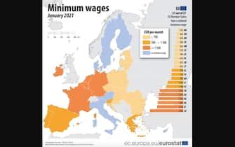 Statistica dell'Eurostat sul salario minimo in Europa