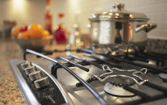 Kitchen appliances in a new house. (Photo by Jean-Francois Cardella/Construction Photography/Avalon/Getty Images)