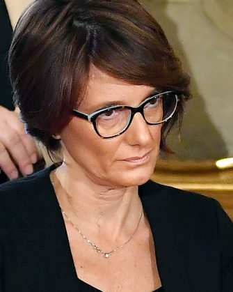 Italy's Minister for Family and Equal Opportunities Elena Bonetti attends a swearing-in ceremony at the Quirinale presidential palace in Rome on September 5, 2019. - Prime Minister Giuseppe Conte on September 4 unveiled Italy's new government, a coalition of the anti-establishment Five Star Movement (M5S) and centre-left Democratic Party (PD). Conte, who remains at the helm after 14 months at the head of the outgoing populist government, presented 21 new ministers to be sworn in on September 5. (Photo by Andreas SOLARO / AFP)        (Photo credit should read ANDREAS SOLARO/AFP via Getty Images)