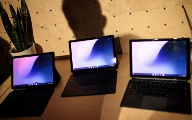 LONDON, ENGLAND - OCTOBER 09: Google Pixel Slate tablets sit on display at a Google hardware launch event at The Yard on October 9, 2018 in London, England. The tech giant have today launched the Pixel 3 and Pixel 3 XL phones, Pixel Slate and Google Home Hub . (Photo by Jack Taylor/Getty Images)