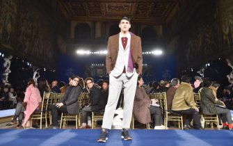 Models present creations by Brooks Brothers during the 93rd 'Pitti Immagine Uomo' fashion exhibition in Florence, Italy, 10 January 2018. The event, which showcases men's clothing and accessory collections, runs from 09 to 12 January. ANSA/MAURIZIO DEGL'INNOCENTI
