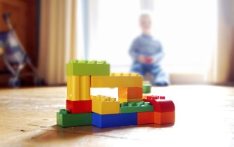 Lego building bricks constructed by a child. (Photo by David Potter/Construction Photography/Avalon/Getty Images)