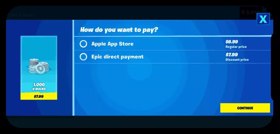 Screenshot della novità introdotta da Fortnite