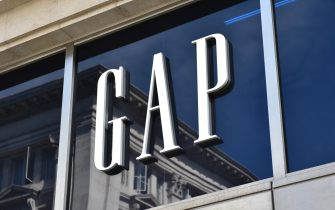 LONDON, ENGLAND - JUNE 11: A GAP fashion retail shop sign above the entrance on Oxford Street on June 11, 2018 in London, England. (photo by John Keeble/Getty Images)