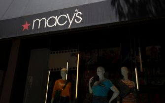 The Macy's logo is seen outside a shop in Washington, DC, on July 25, 2019. (Photo by Alastair Pike / AFP)        (Photo credit should read ALASTAIR PIKE/AFP via Getty Images)